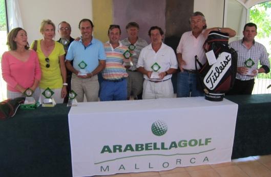 ganadores del 1er torneo aniversario arabella golf son muntaner