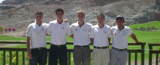 Integrantes de la Arabella Golf Academy en el Campeonato de Canarias