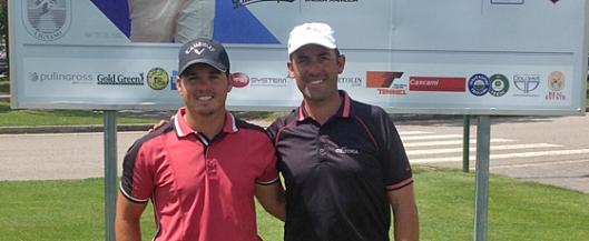 Diego Dupin de Arabella Golf Academy en el Alps Tour, con Marcos Juan