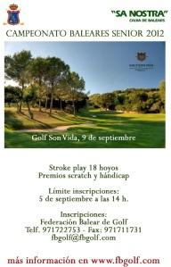 Campeonato de Baleares Senior 2012 en Golf Son Vida