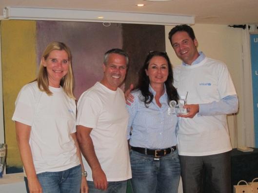 Primera clasificada torneo benefico UNICEF en Arabella Golf Son Muntaner