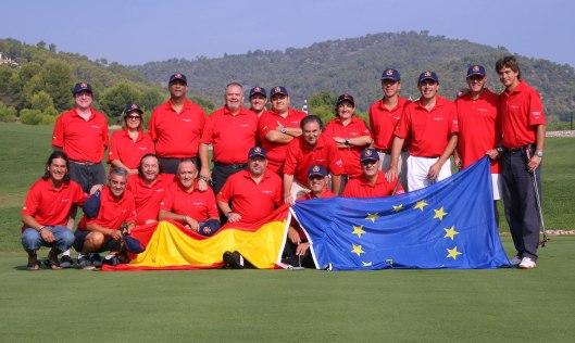 Equipo de periodistas españoles en la Mallorca Press Cup