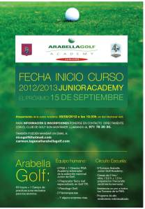 poster Arabella Golf Junior academy, en Son Muntaner