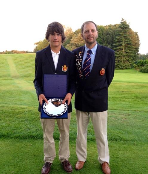 Toni Planells con la Selección Española de Golf en Gran Bretaña