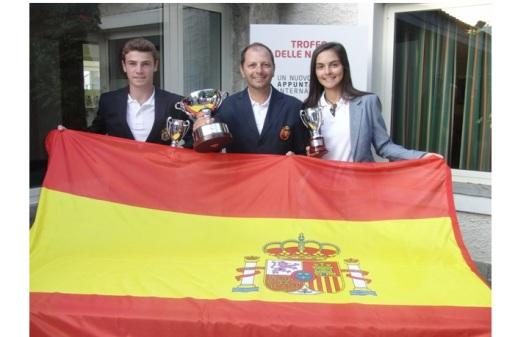 La Selección Española de Golf infantil, con Toni Planells, en Italia