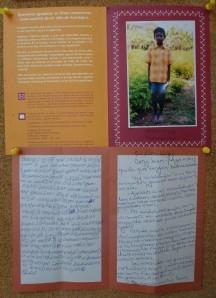 carta apadrinamiento de los niños de la Fundación Vicente Ferrer