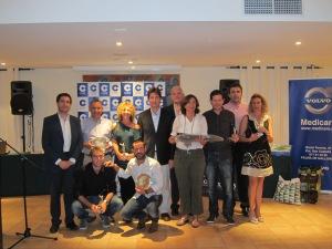 Grupo de los ganadores de XVII Torneo Cope en Golf Son Muntaner