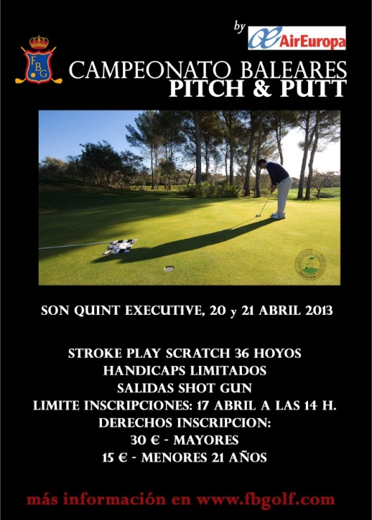 poster cto baleares pitch and putt