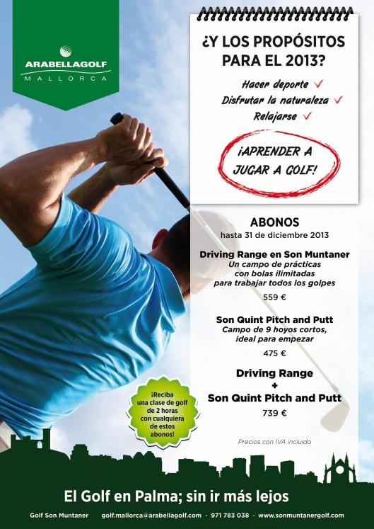 promoción iniciación al golf