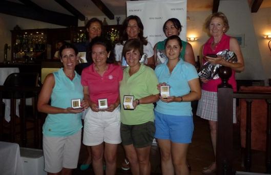 Ganadoras Torneo Damas 50 Aniversario Golf Son Vida