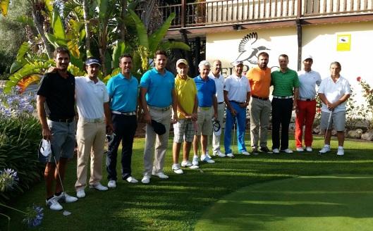 Los 10 Pros del torneo: Juan, Loprete, Dupin, James, los hermanos Rodríguez, Rapado, Planells, Llobera (Director de Arabella Golf Mallorca), Ledwidge y Pera
