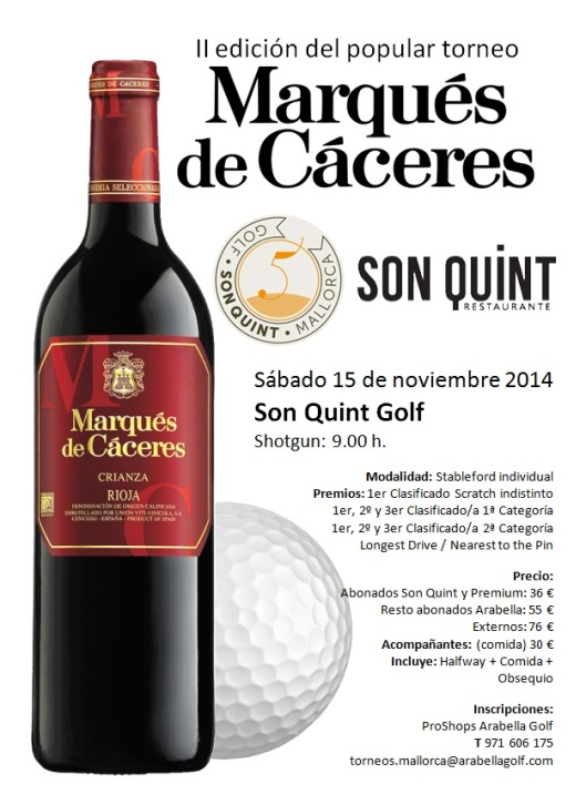 POSTER TORNEO MARQUES CACERES 2014