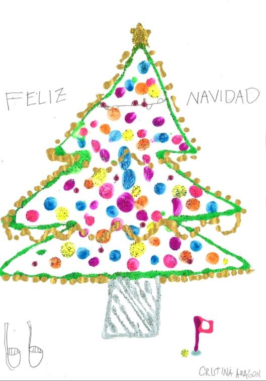 Cristina Aragón, ganadora del concurso de postales, categoría <7 años