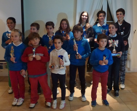 Ganadores del Torneo de Navidad de la Arabella Golf Junior Academy